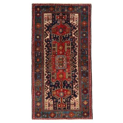 3'7 x 7' Hand-Knotted Persian Kurdish Wool Area Rug