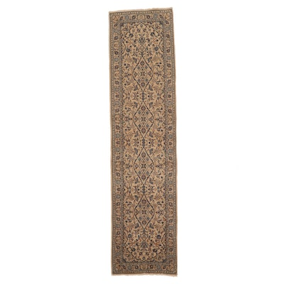 2'8 x 10'8 Hand-Knotted Persian Kashan Wool Carpet Runner