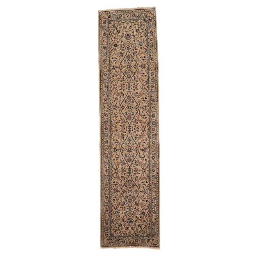 2'8 x 10'8 Hand-Knotted Persian Kashan Wool Carpet Runner