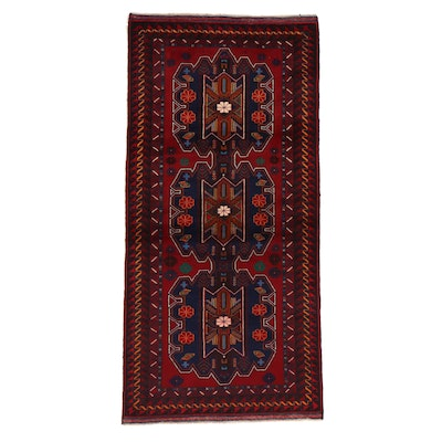 3'3 x 6'11 Hand-Knotted Afghan Baluch Area Rug