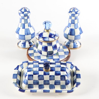 "MacKenzie-Childs ""Royal Check"" Enamel Tableware"