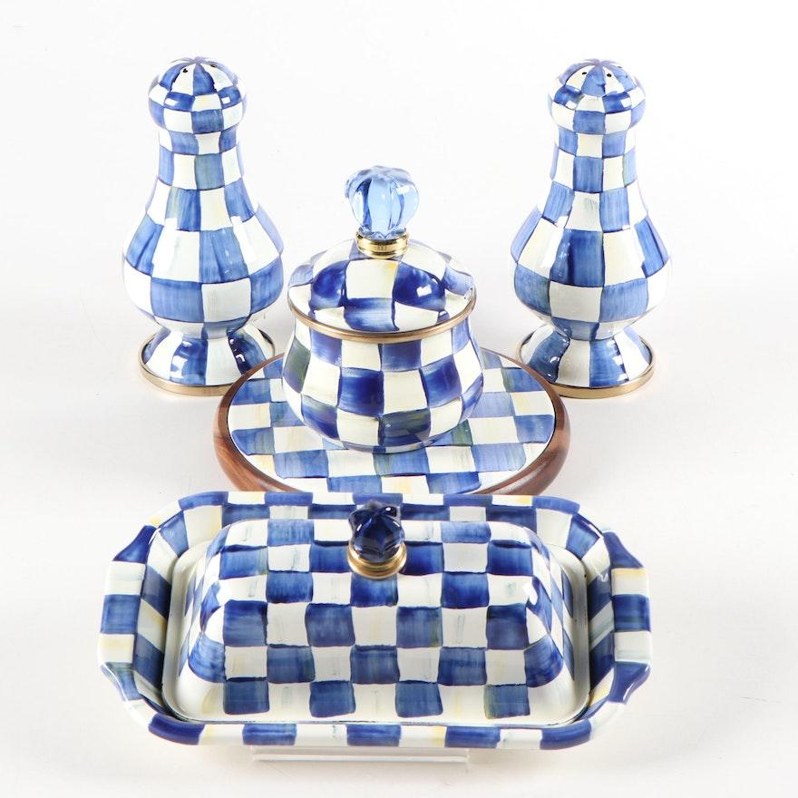 "MacKenzie-Childs ""Royal Check"" Enamel Tableware"