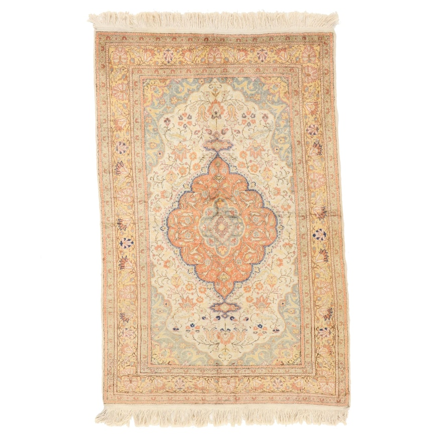 3'9 x 6'4 Hand-Knotted Persian Tabriz Area Rug