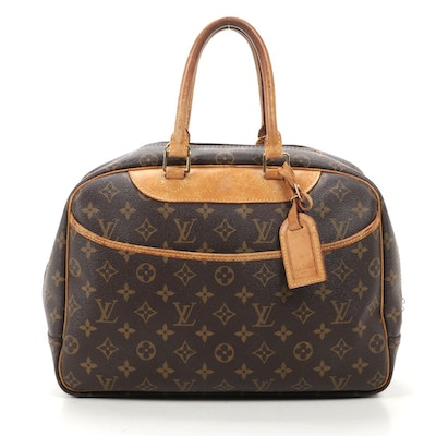 Louis Vuitton Deauville in Monogram Canvas and Vachetta Leather