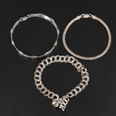 Sterling Fancy Link Bracelets