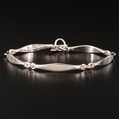Sterling Curved Link Bracelets