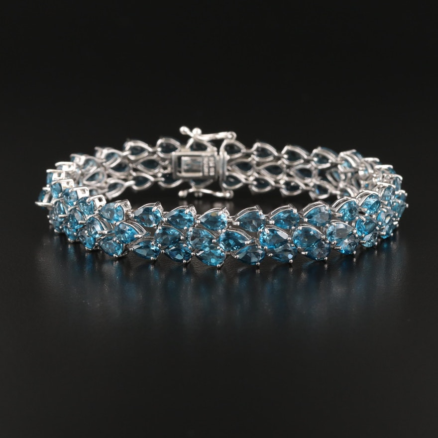 Sterling London Blue Topaz Bracelet