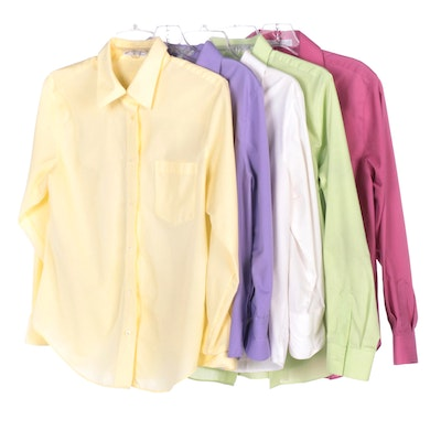 Foxcroft Button-Down Long Sleeve and Three-Quarter Length Sleeve Shirts