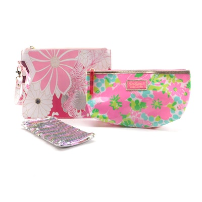 Lilly Pulitzer, Betsey Johnson and Other Cosmetic Bag, Wristlet and Glasses Case