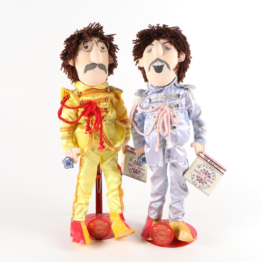 """Applause """"The Beatles Sgt. Peppers Lonely Heart Club"""" Dolls with Stands, 1988"""