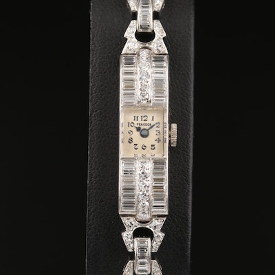 Mathey-Tissot for Peacock Platinum 5.08 CTW Diamond Wristwatch