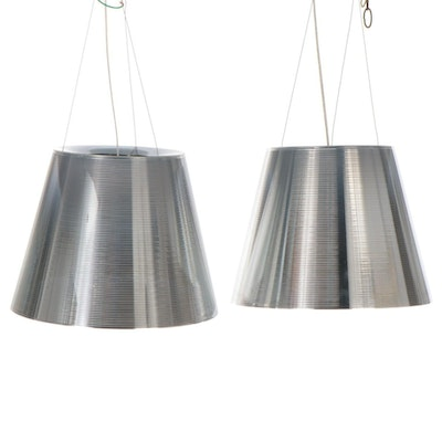 Pair of FLOS Ktribe S2 Suspension Pendant Lights after Philippe Starck