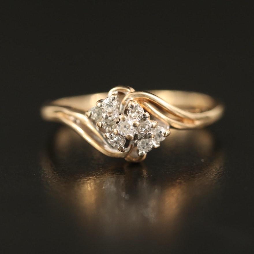 10K Diamond Cluster Bypass Ring