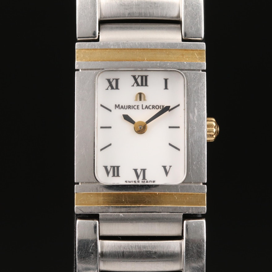 """Maurice Lacroix """"Miros Integral"""" 18K and Stainless Steel Wristwatch"""