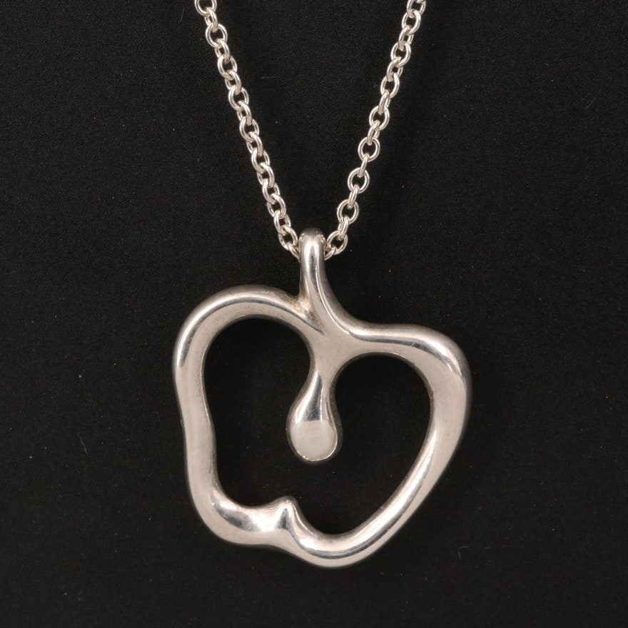 Elsa Peretti for Tiffany & Co. Sterling Apple Pendant Necklace