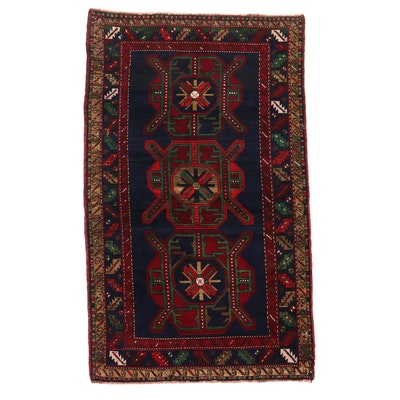 4'8 x 7'11 Hand-Knotted Caucasian Kazak Area Rug