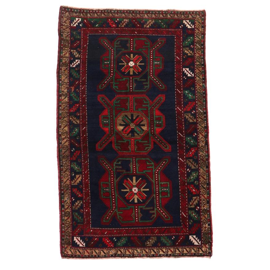 4'8 x 7'11 Hand-Knotted Caucasian Kazak Area Rug