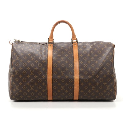 Louis Vuitton Keepall Bandoulière 55 in Monogram Canvas and Vachetta Leather