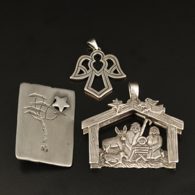 Sterling Nativity Themed Jewelry Featuring James Avery and Jeep Collins