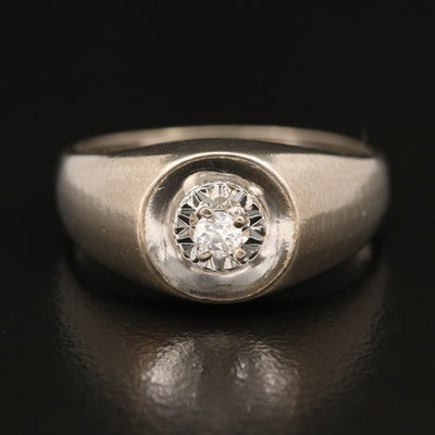 Vintage 10K Diamond Ring