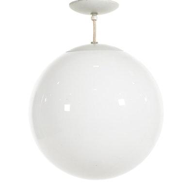 Mid Century Modern Single Light Glass Globe Pendant