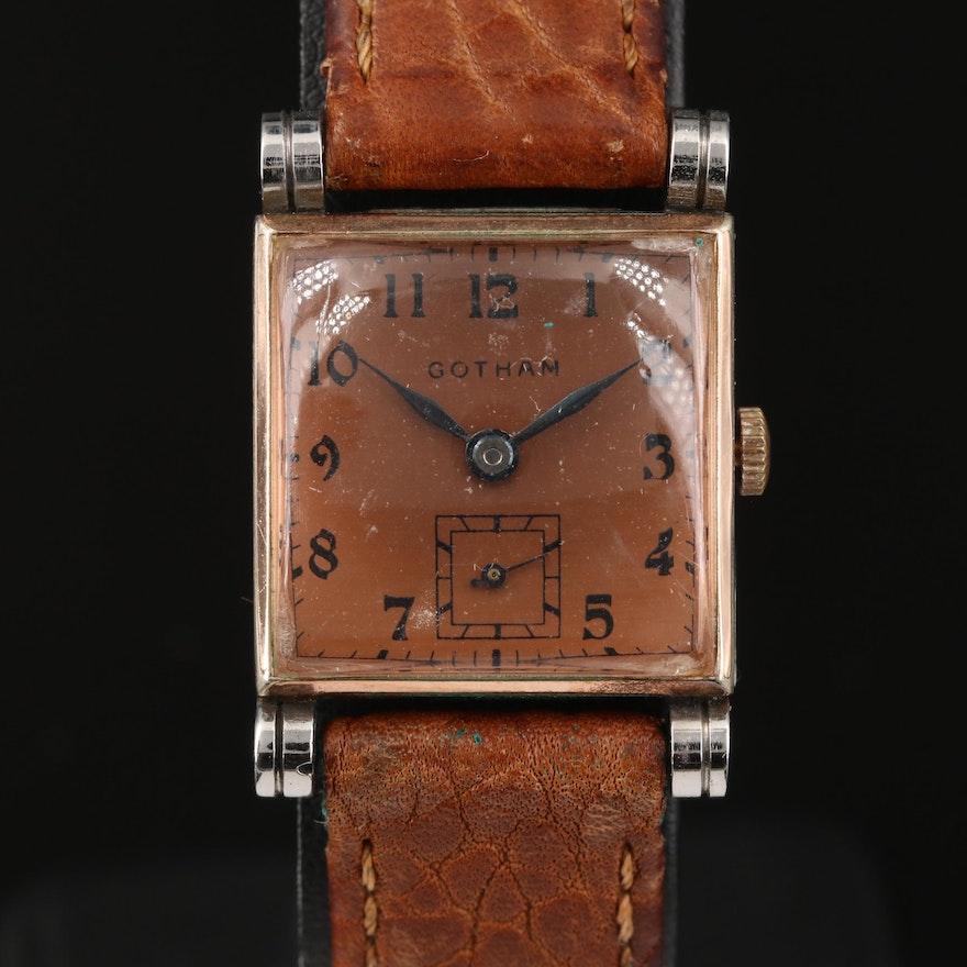 Vintage Gotham Two-Tone Stem Wind Wristwatch