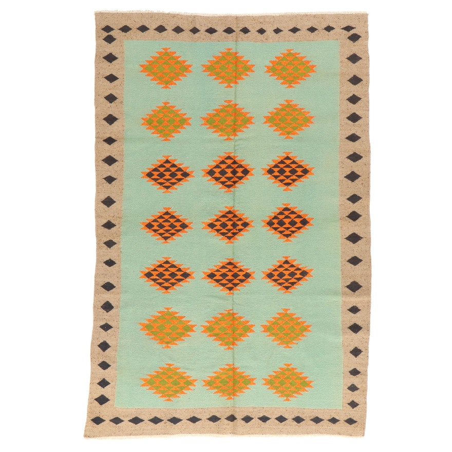 6' x 9'3 Handwoven Afghan Kilim Area Rug