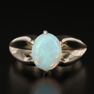 14K Opal Belcher Ring