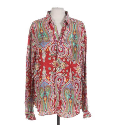 Polo by Ralph Lauren Paisley Silk Blouse
