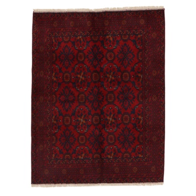 5' x 6'8 Hand-Knotted Afghan Wool Area Rug