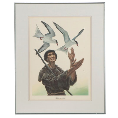 "John A. Ruthven Offset Lithograph ""Francis of Assisi"""