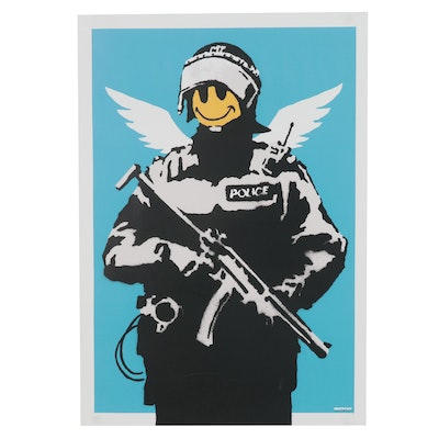 "Digital Print after Banksy ""Flying Copper,"" 21st Century"