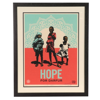 "HOPE Artists Serigraph ""Hope for Darfur,"" 2008"