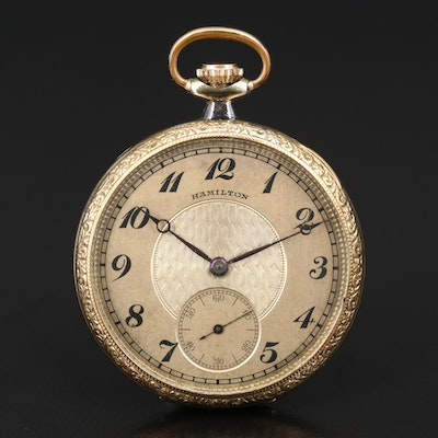 1923 Hamilton Gold Filled Pocket Watch