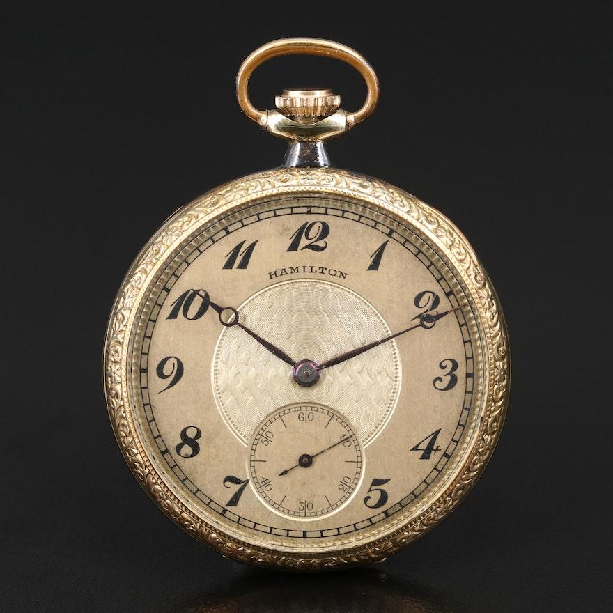 1923 Hamilton Gold Filled Pocket Watch