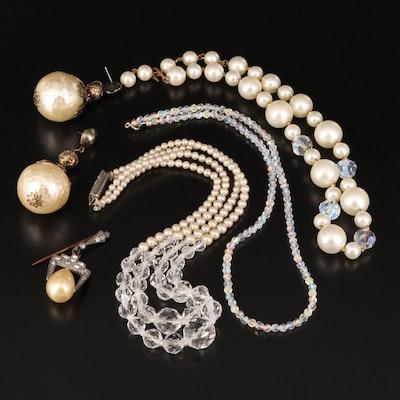 Vintage Jewelry Including Aurora Borealis Beads