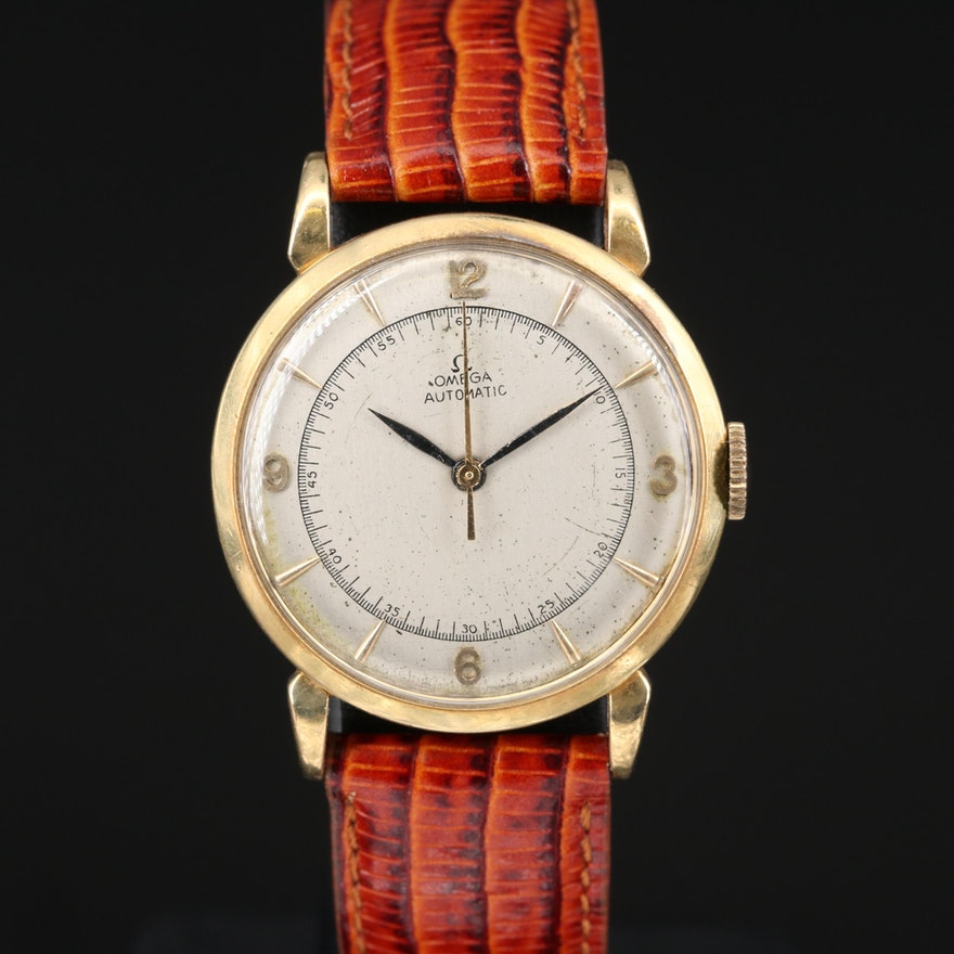 Vintage Omega 18K Automatic Wristwatch
