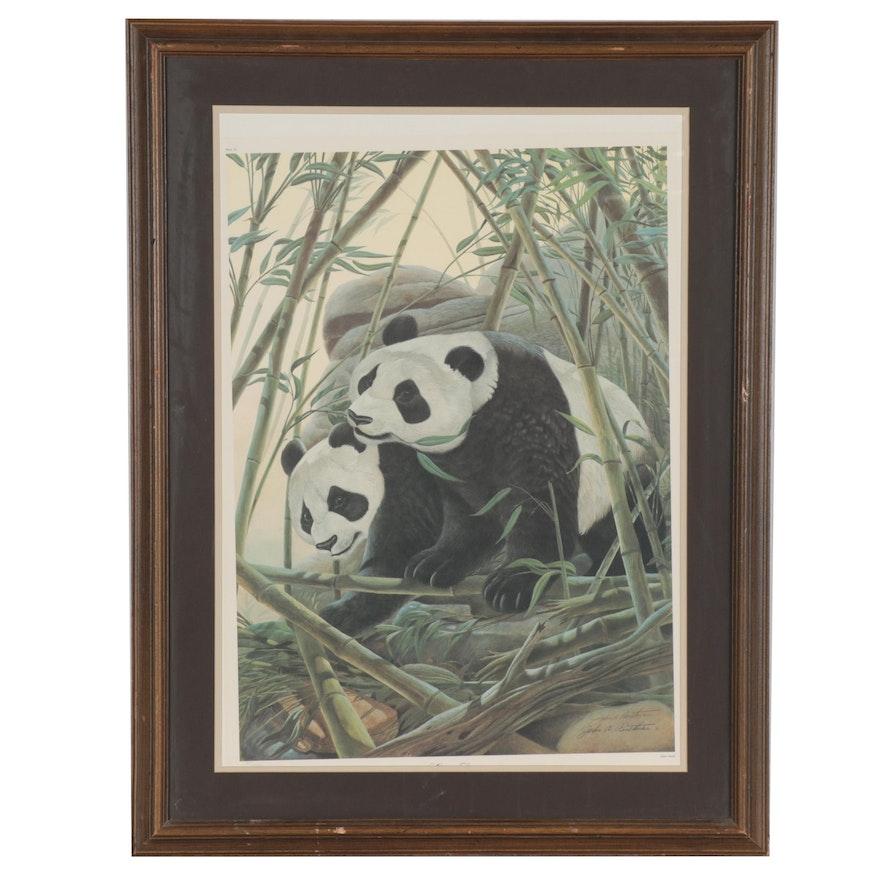 "John A. Ruthven Offset Lithograph ""Giant Panda,"" Late 20th Century"