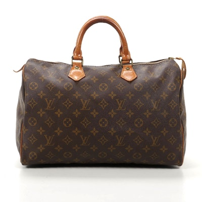 Louis Vuitton Speedy 35 in Monogram Canvas and Vachetta Leather