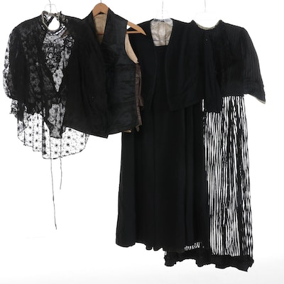 Victorian Mourning Blouse, Dress, Vest, and Other Garments