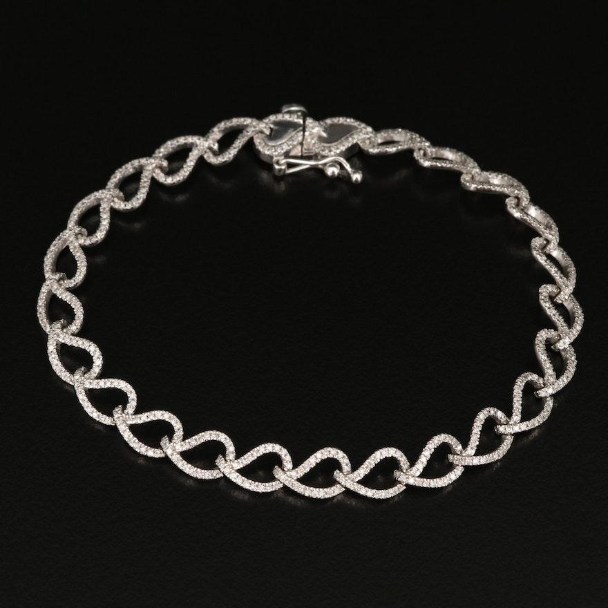 10K 1.55 CTW Diamond Bracelet