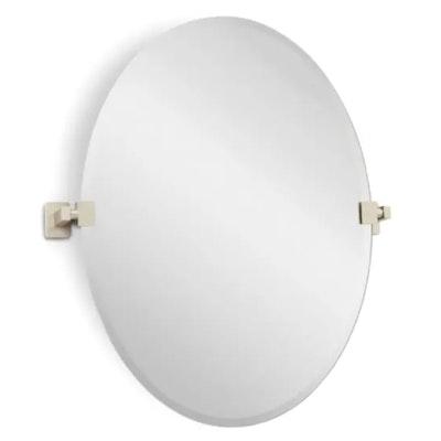 "Helsinki 23"" Oval Beveled Edge Vanity Mirror"
