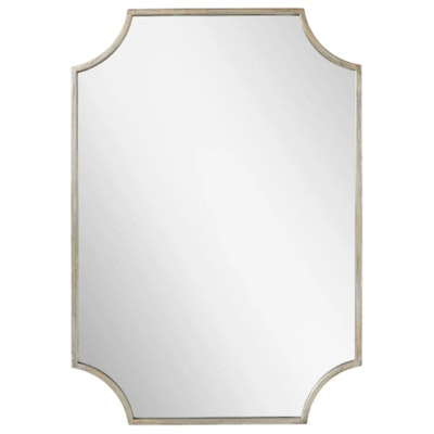 Ulric Decorative Vanity Mirror in Antique Silver