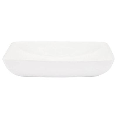 "Galindo 24"" Porcelain Rectangular Vessel Vanity Sink Basin in White"