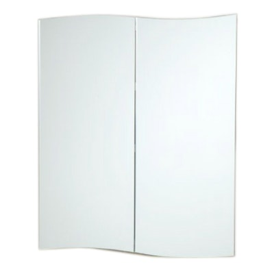 """Gatewood"" Stainless Steel Recessed Medicine Cabinet in White"