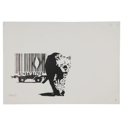 "Digital Print after Banksy ""Barcode,"" 21st Century"