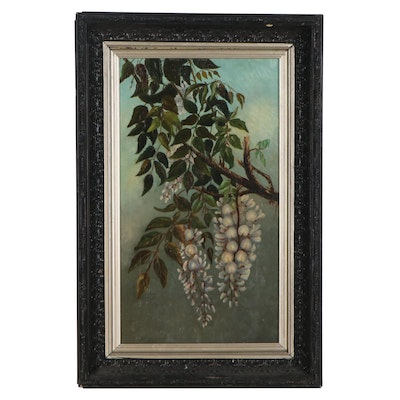 Oil Painting of Floral Branch, Early 20th Century