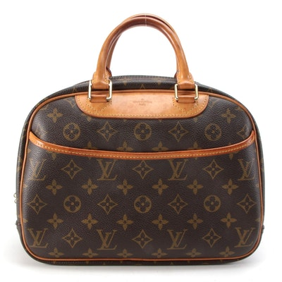 Louis Vuitton Trouville Bag in Monogram Canvas with Leather Trim