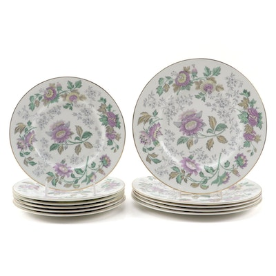 "Wedgwood ""Avon Multicolor"" Bone China Dinner Plates and Salad Plates"