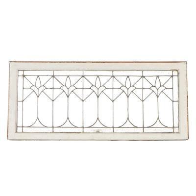 Leaded Glass Transom Window,  Early 20th Century